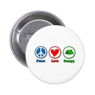 Peace Love Occupy Pin