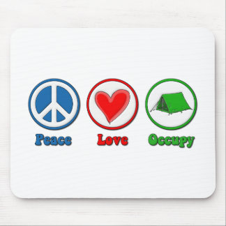 Peace Love Occupy Mouse Pad