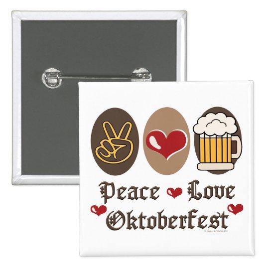 Peace Love Oktoberfest Button