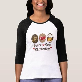Peace Love Oktoberfest Long Raglan T shirt