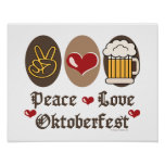 Peace Love Oktoberfest Poster