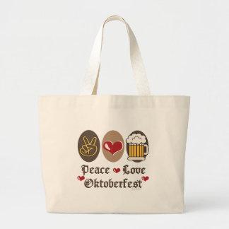 Peace Love Oktoberfest Tote Bag