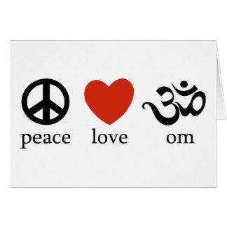 Peace Love Om Gift Greeting Card