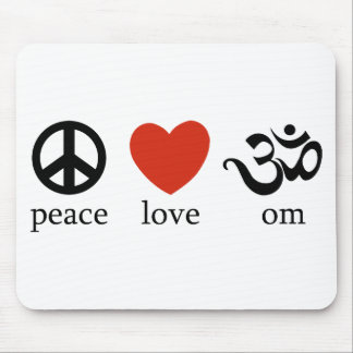 Peace Love Om Gift Mouse Pad