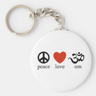 Peace Love Om Key Chain