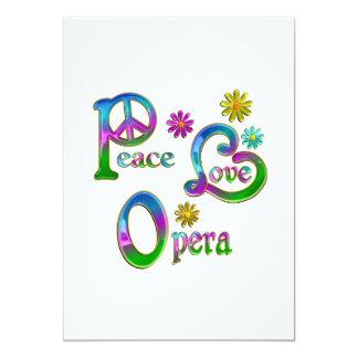 Peace Love Opera Custom Invites