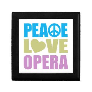 Peace Love Opera Small Square Gift Box