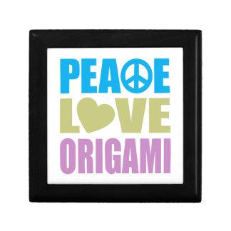 Peace Love Origami Small Square Gift Box