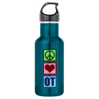 Peace Love OT Occupational Therapist 532 Ml Water Bottle