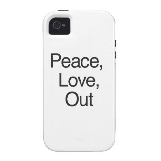 Peace Love Out iPhone 4 Case