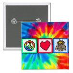 Peace, Love, Owls Pin