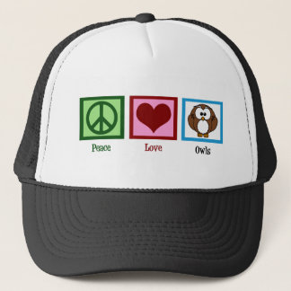 Peace Love Owls Trucker Hat