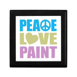 Peace Love Paint Small Square Gift Box
