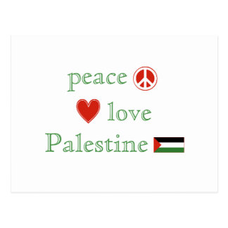 Peace Love Palestine Postcard
