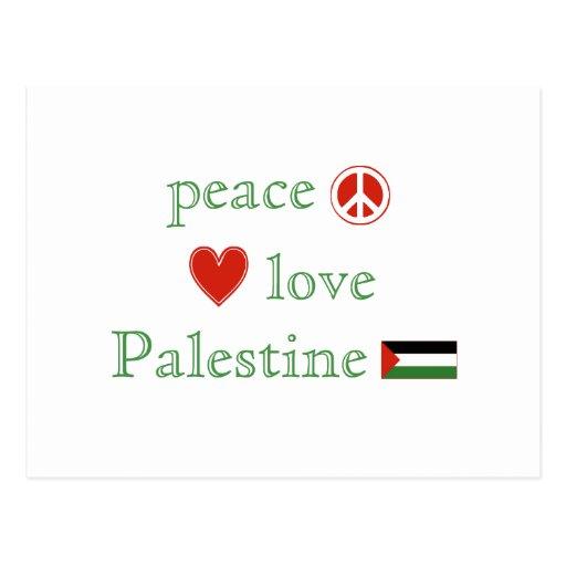 Peace Love Palestine Post Card