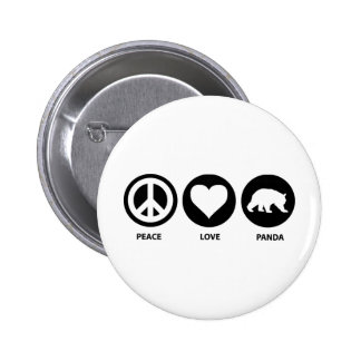 Peace Love Panda 6 Cm Round Badge