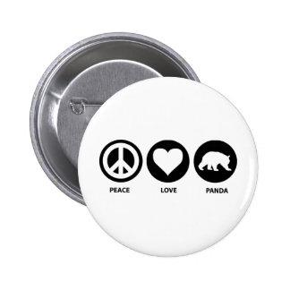 Peace Love Panda 6 Cm Round Badge