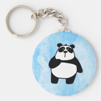 peace love panda basic round button key ring