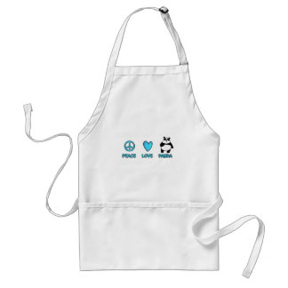 peace love panda standard apron