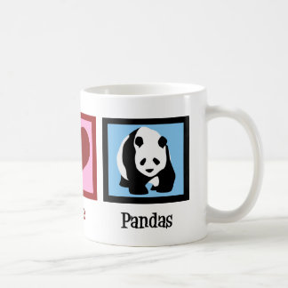 Peace Love Pandas Basic White Mug