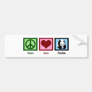 Peace Love Pandas Bumper Sticker