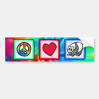 Peace, Love, Pandas Bumper Stickers
