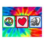 Peace, Love, Pandas Post Card