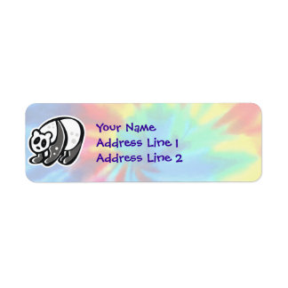 Peace, Love, Pandas Return Address Label
