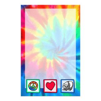 Peace, Love, Pandas Stationery