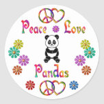 PEACE LOVE PANDAS STICKER