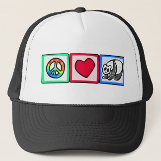 Peace, Love, Pandas Trucker Hat