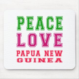 Peace Love Papua New Guinea Mousepad