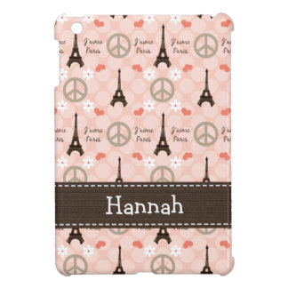 Peace Love Paris iPad Mini Covers