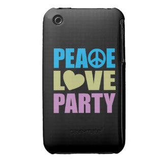 Peace Love Party iPhone 3 Cases