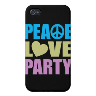 Peace Love Party Cases For iPhone 4