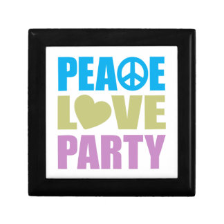 Peace Love Party Small Square Gift Box