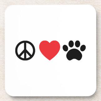 Peace Love Paw Coasters