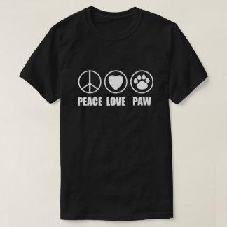 Peace Love Paw Dark T Shirts