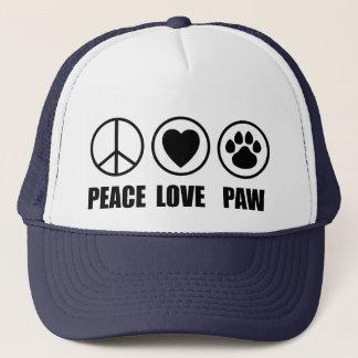 Peace Love Paw Hat