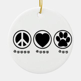 Peace Love Paw Ornament