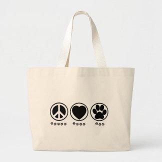 Peace Love Paw Bag