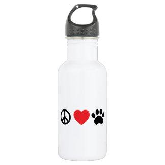 Peace Love Paw Water Bottle