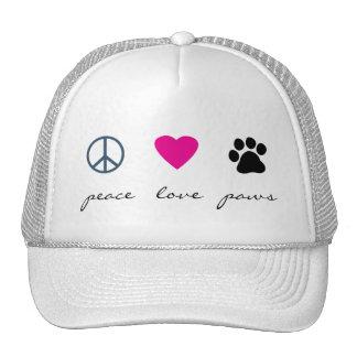 Peace Love Paws Cap