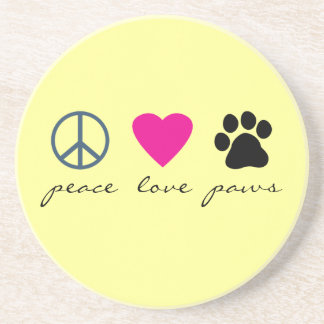 Peace Love Paws Coaster