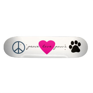 Peace Love Paws Custom Skate Board