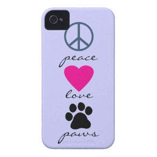 Peace Love Paws iPhone 4 Case-Mate Case