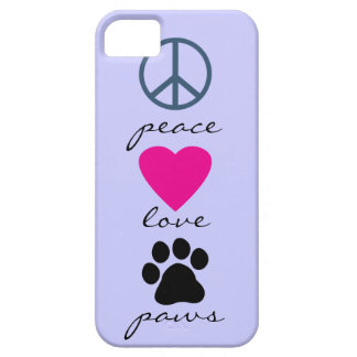 Peace Love Paws iPhone 5 Case