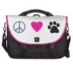 Peace Love Paws Laptop Messenger Bag