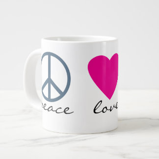 Peace Love Paws Large Coffee Mug