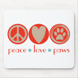 Peace Love Paws Mousepads